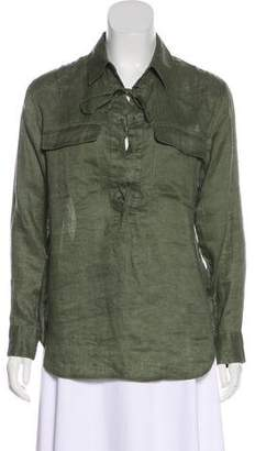 Equipment Linen Lace-Up Top