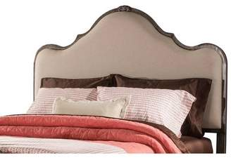 Hillsdale Furniture Delray Metal/Upholstered Bed King Headboard Frame Included Aged