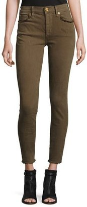 True Religion Hallie Super Skinny Cropped Jeans, Olive $189 thestylecure.com