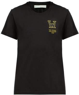 Off-White Off White Black Betty Print Cotton T Shirt - Womens - Black