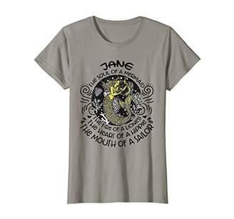 Womens Jane The Soul Of A Mermaid Shirt First Name Tee