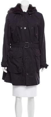 3.1 Phillip Lim Shearling-Trimmed Knee-Length Coat