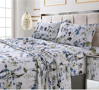 Tribeca Living Amalfi Printed 300 Tc Cotton Sateen Extra Deep Pocket Cal King Sheet Set Bedding