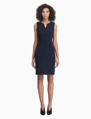 Calvin Klein v-neck seamed sheath dress
