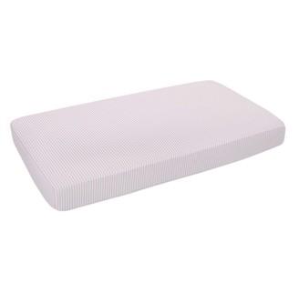 Lolli Living Fitted Crib Sheet 100% Cotton Muslin Stripe Pink