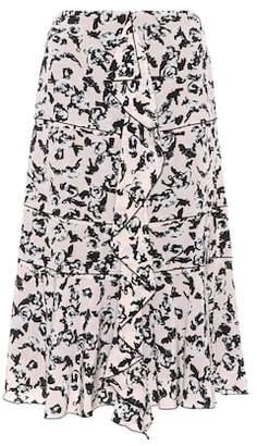 Proenza Schouler Printed silk-crêpe skirt