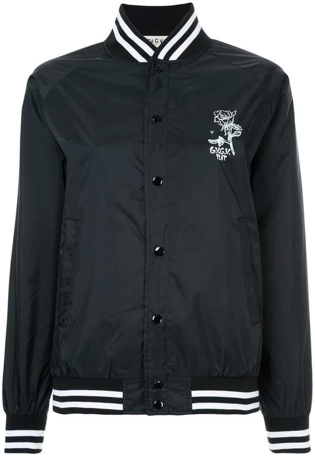G.V.G.V.Flat printed stadium bomber jacket