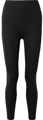 Nagnata - Technical-knit Stretch-cotton Leggings - Black