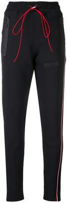 Represent side flag stripe track pants