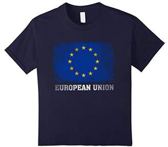 European Union T Shirt Flag Vintage Distressed Aged Look