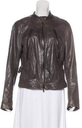 Vince Distressed Leather Jacket