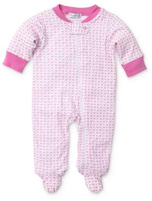 Kissy Kissy Girls' Heart Print Footie - Baby