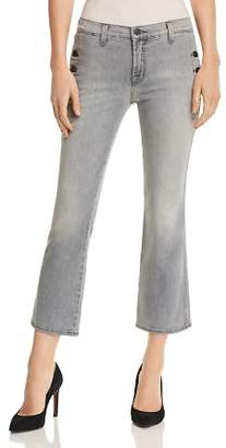 J Brand Zion Mid Rise Crop Bootcut Jeans in Resonance