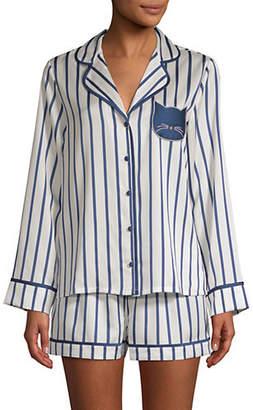 Kate Spade Two-Piece Striped Pyjama Set