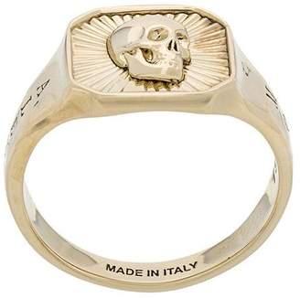 Alexander McQueen skull medallion ring