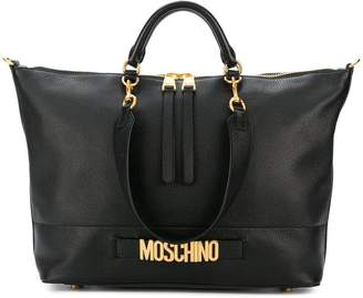 Moschino Backpack for Women On Sale, Black, Leather, 2017, one size