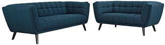 Modway Bestow 2Pc Upholstered Fabric Sofa & Loveseat Set