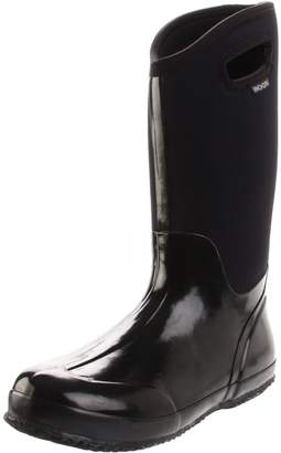 Bogs Women's Classic High Handle Waterproof Insulated Boot, Black Shiny
