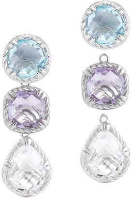 Alor Delatori by Delatori By Delatori Silver 27.00 Ct. Tw. Gemstone & Crystal Drop Earrings