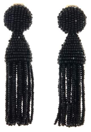 Oscar de la Renta Gold Short Tassel Earrings