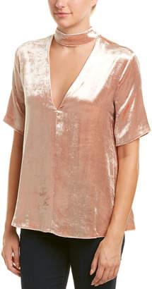 A.L.C. Velvet Silk-Blend Top