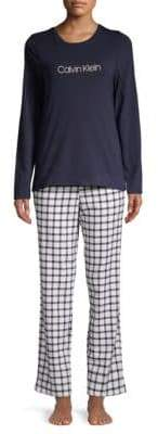Calvin Klein Two-Piece Classic Cotton Pajama Set