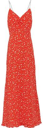 Miu Miu Printed marocain crepe dress