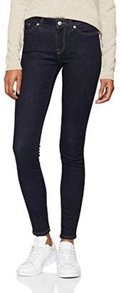Selected Women's Slfida Mw Skinny Rinse Jeans Noos W (Dark Blue Denim Wash:Rinse), W29/L30 (Size: 29)