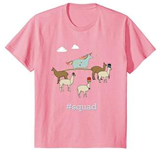 Unicorn Squad Llama T-Shirt Cute Birthday Tshirt