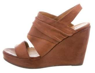 Coclico Leather Slingback Wedges