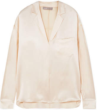 Vince Silk-satin Blouse - Off-white