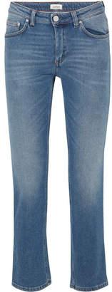 Totême Cropped Mid-rise Straight-leg Jeans - Mid denim