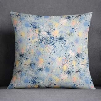 Giant Sparrows Abstract Ink Dust Dots Paint Splatter Cushion