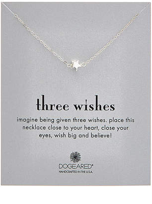 Dogeared Three Wishes Silver Necklace