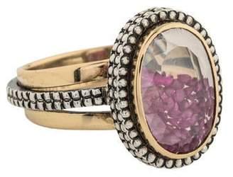 Moritz Glik Sapphire & Ruby Bead Cocktail Ring