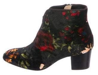 Christian Louboutin Disco 70's 55 Velvet Ankle Boots