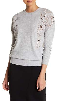 Ted Baker Tae Embroidered Lace Shoulder Sweater