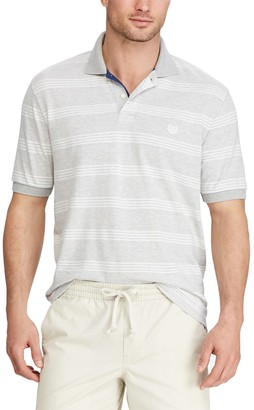 Chaps Big & Tall Classic-Fit Wide-Striped Polo