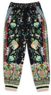 Camilla Little Girl's& Girl's Cotton Drawstring Pants