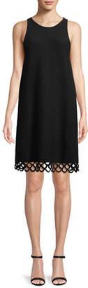 Milly Eyelet-Trim Shift Dress