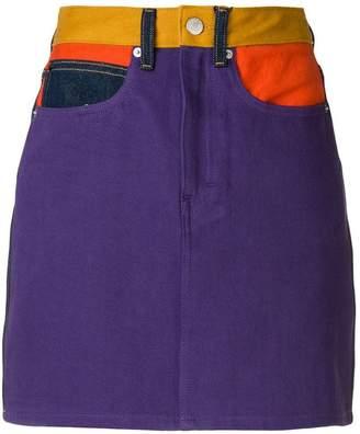 Calvin Klein Jeans colour block mini skirt