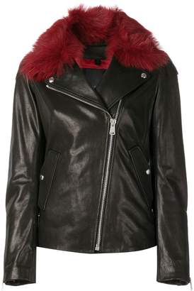 Belstaff fur collar biker jacket