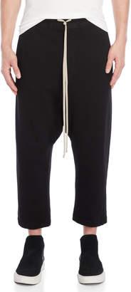 Rick Owens Drop Crotch Cropped Sweatpants