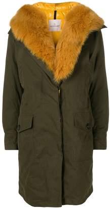 Moncler fox fur midi coat