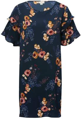 M&Co JDY floral frill sleeve dress