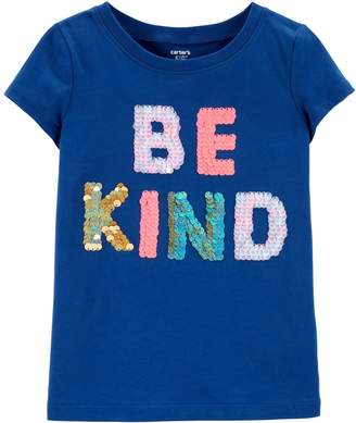 "Carter's Girls 4-12 Sequined ""Be Kind"" Graphic Tee"
