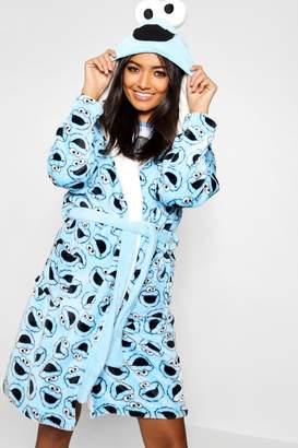boohoo Cookie Monster Hooded Dressing Gown