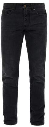 Saint Laurent Faded Skinny Jeans - Mens - Dark Grey