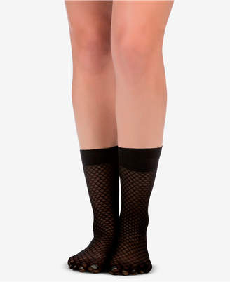 Spanx Honeycomb Fishnet Half-Calf Socks