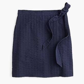 J.Crew Textured wrap mini skirt
